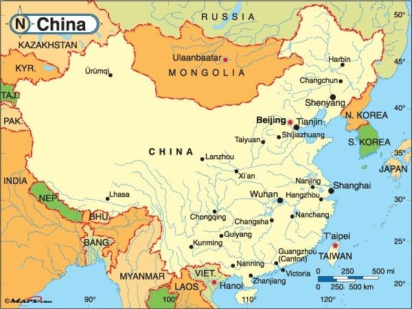 General China Map