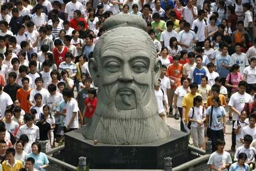 the influence of confucianism in china A bust of the chinese philosopher confucius lies on the ground in an abandoned  stone carving workshop in dangcheng, china (david.