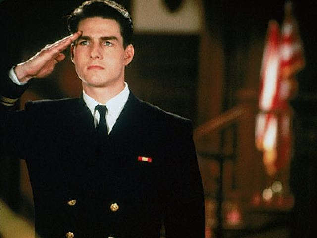 A scene from the movie A Few Good Men with Tom Cruise