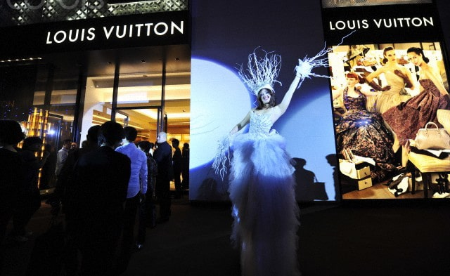 A Louis Vuitton event being held in China
