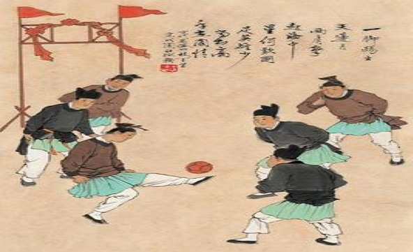 Earliest forms of football (soccer) being played in China