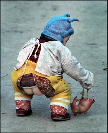 split pants China