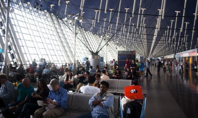 Terminal at Shanghai (Pudong) International Airport