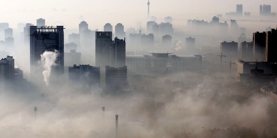 china polluted chinese city smog China Energy, Pollution, Environment facts & statistics