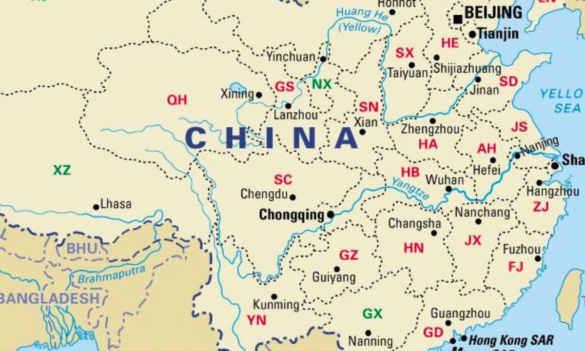 Cartina Cina Con Province.China Provinces Map Including Blank China Provinces Map China Mike