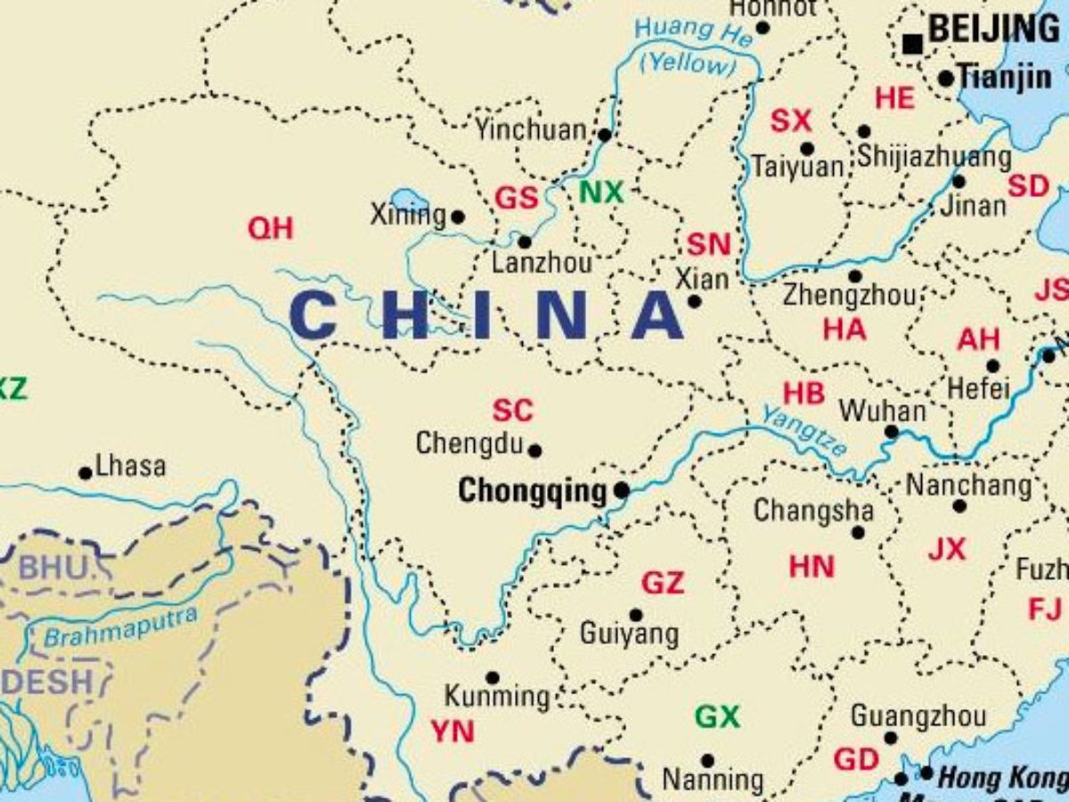 Image of: China Provinces Map Including Blank China Provinces Map China Mike