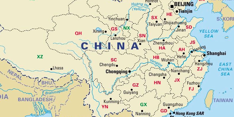 China Provinces Map (including Blank China Provinces Map ...