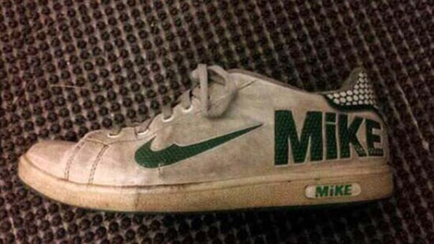 "An imitation Nike brand in China that reads ""Mike"""