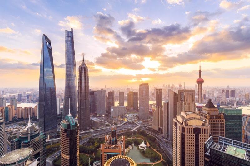 China skyline in Shanghai