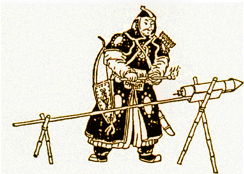 Chinese gunpowder used to make a rocket