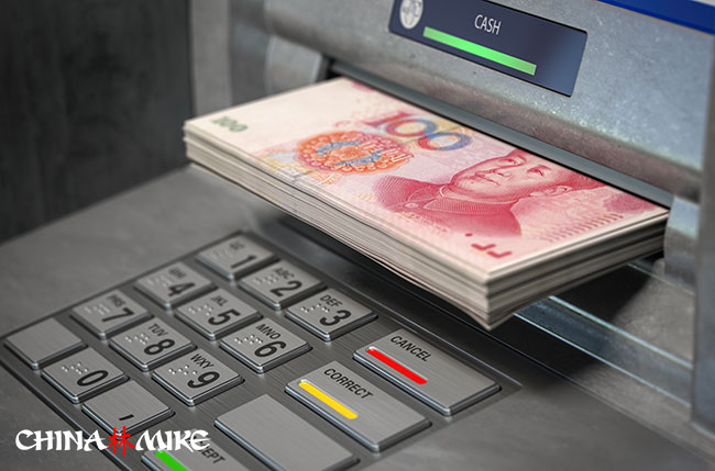 Pulling Renminbi out of a Chinese ATM