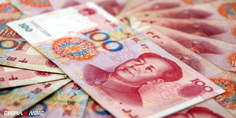 Chinese 100 yuan bills