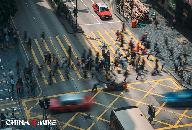 Tsim Sha Tsui street crossing